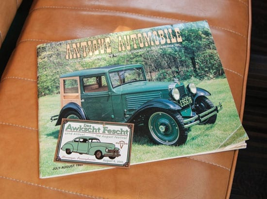 """The car featured on the cover of a publication titled """"Antique Automobile"""""""