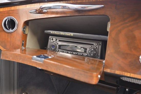 The car even now features modern touches such as air conditioning and a CD player
