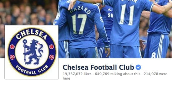 The combined likes for Arsenal Chelsea Football Club and Manchester United on Facebook is higher than the UK's total population