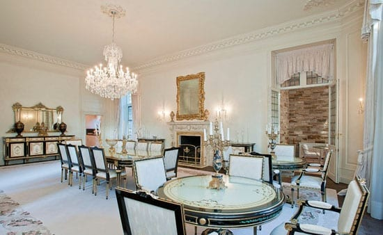 The dining room has been the scene of dinners for world leaders and royalty