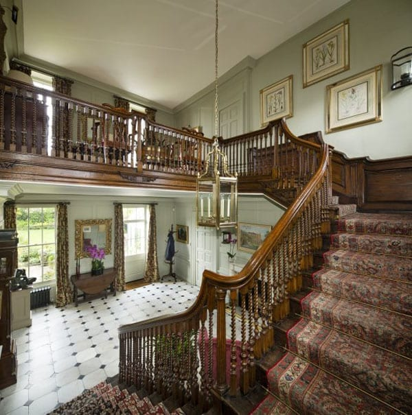 "The entrance hall and staircase are described as being two of Cannon Hall's ""most impressive and distinguishing features"""