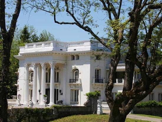 The exterior of The Colgate Mansion, 138 Amenia Road, Sharon, CT 06069, United States of America