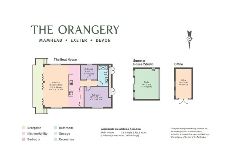The floor plan of the additional accommodation