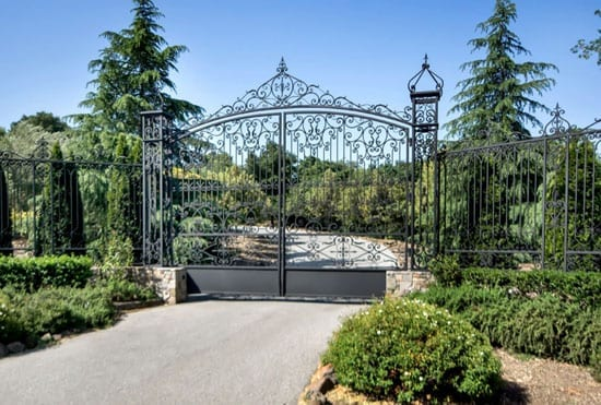 The front gates come from a plantation in Georgia
