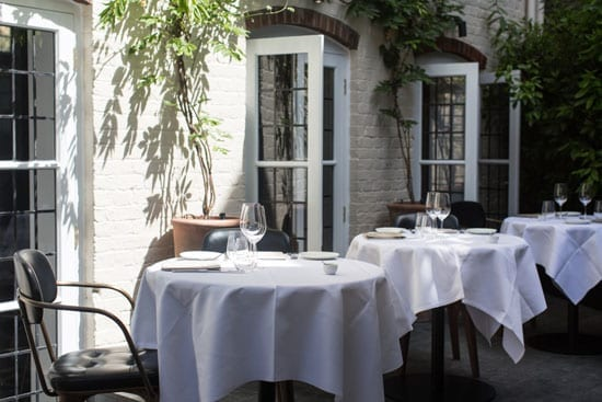 The restaurant's garden is open for daytime dining