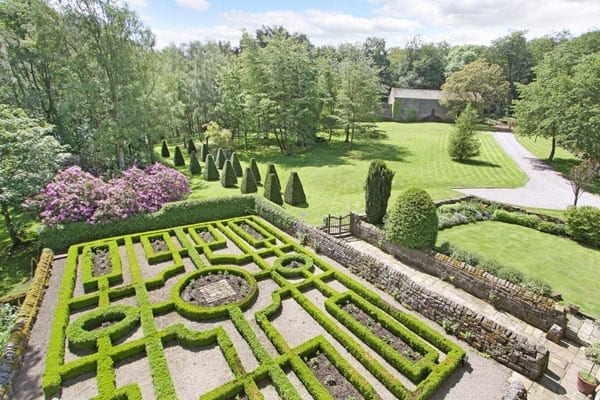 The gardens have been landscaped in an Elizabethan style