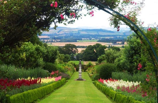 """The gardens of Thriepley House are considered to rank """"amongst the finest in Scotland"""""""