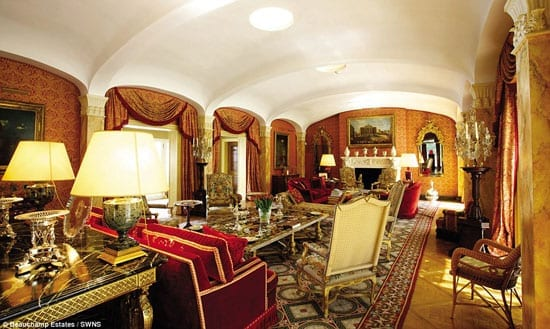 The grandest entertaining space created for Professor Flick is undoubtedly the 48-foot drawing room