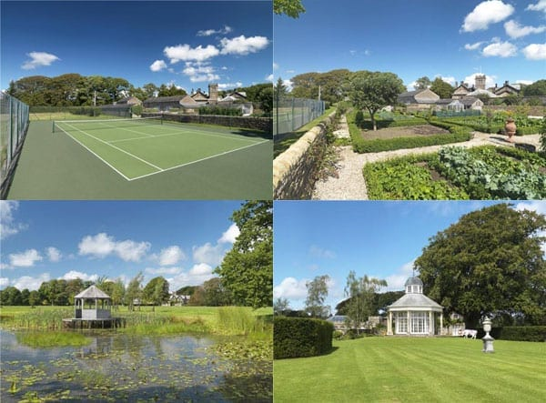 The grounds include a tennis court kitchen garden lake and summer house