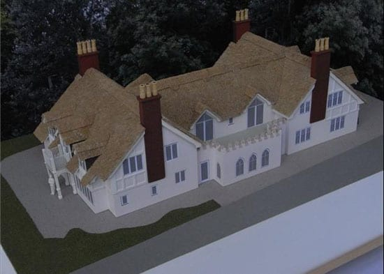 The house comes with planning permission for a substantial extension