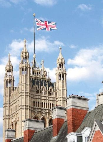 The house even enjoys roof top views towards Parliament's Victoria Tower