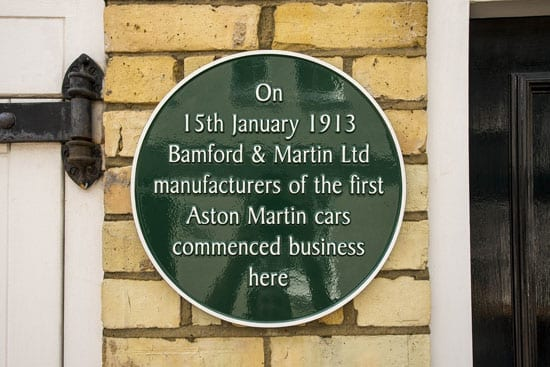 The house features a plaque commemorating it being Aston Martin's birthplace