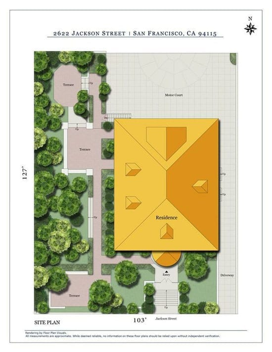 The house stands on a 0.3 acre plot that includes a 5 car motor court