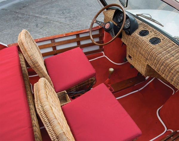The whicker car – 1970 Fiat 850 Spiaggetta by Michelotti – £47,000 to £63,000 ($69,000 to $92,000 or €60,000 to €80,000) – RM Sotheby's – Monaco auction – 14th May 2016 – Count Augusta – AugustaWestland – Seaside estate or yacht tender car