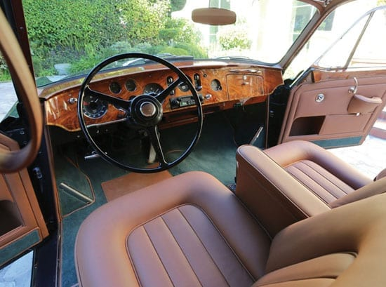 The interior of the Bentley has been fully restored