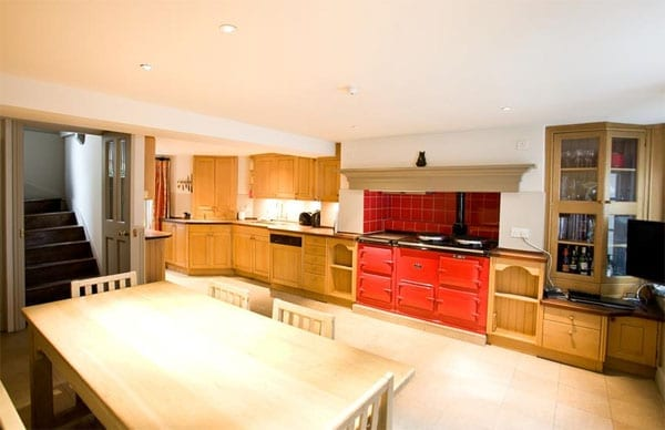 The kitchen is definitely more country than city and thus could appeal to an MP with a rural constituency
