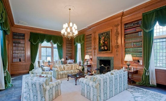 "The library has been described as ""one of the finest rooms in America"""