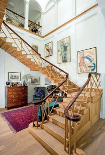The mansion includes a magnificent Chinese Chippendale staircase