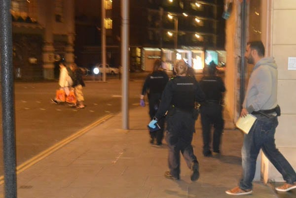An SW3 raid – Immigration officials raid Crompton Court, Chelsea, London, SW3 – Friday 15th July 2016