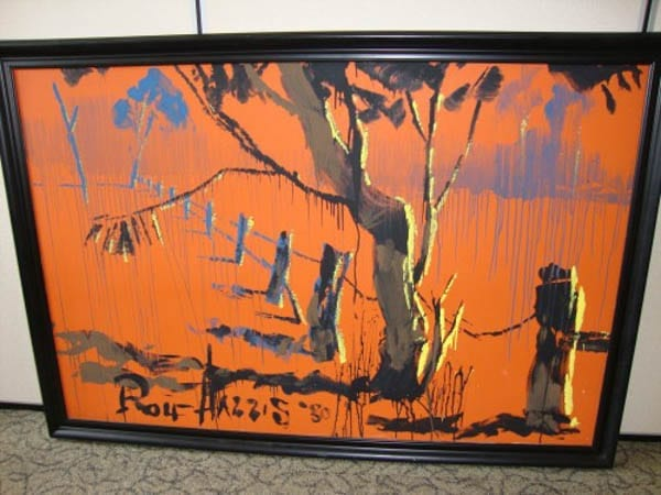 A paedophile profits – Jailed sex abuser Rolf Harris painting to be auctioned – Outback Scene – Mixed media, 1980 – Robson Kay – 6th September 2016