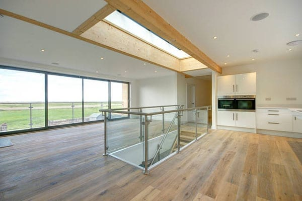 The property has been designed to maximise the views it enjoys and for open plan living