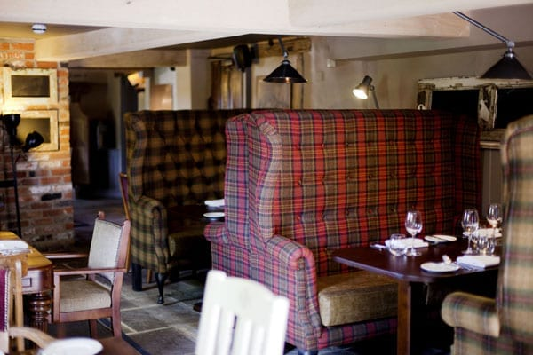 The pub's dining areas are decorated traditionally but not overwhelming