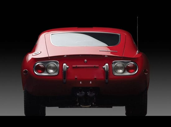 The rear of the car borrows design elements from both Ferrari and the Jaguar E-Type