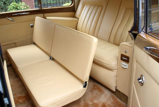 The rear seating comfortably accommodates four passengers