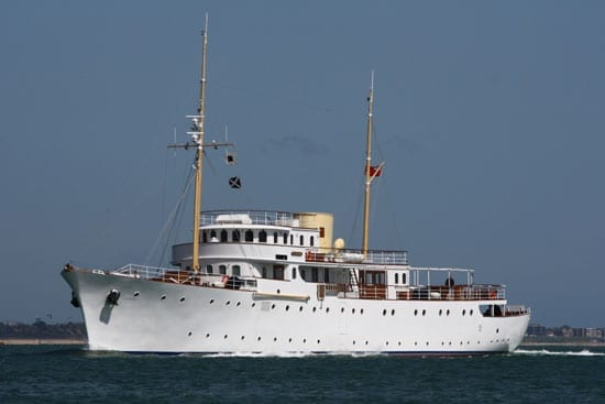The restored Shemara takes to the waves