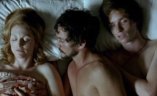 The scene from 'Savage Grace' where Julianne Moore, Hugh Dancy and Eddie Redmayne portray a threesome between Barbara and Antony Baekeland and Sam Green