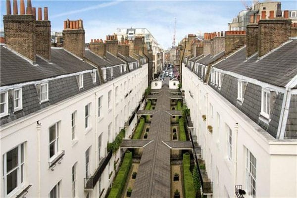 The 'set' currently available to rent looks over the rope-walk and straight down Savile Row
