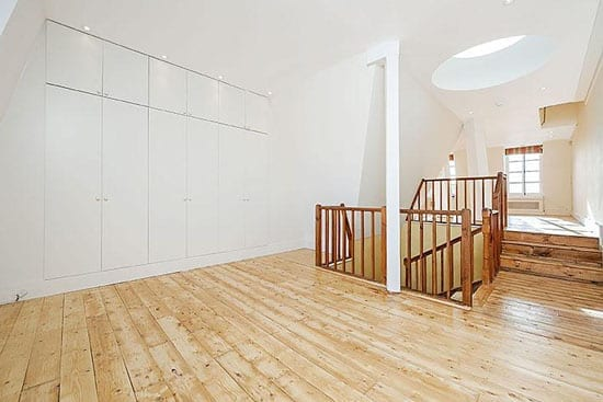 The top floor is light enough that it could easily be used as an artist's studio