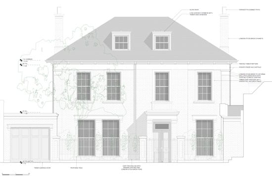 The unispired designs for the replacement of Thurloe Lodge by  Stanhope Gate Architecture and Urban Design