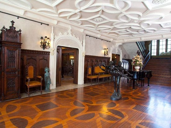 The Colgate Mansion includes a vast reception hallway