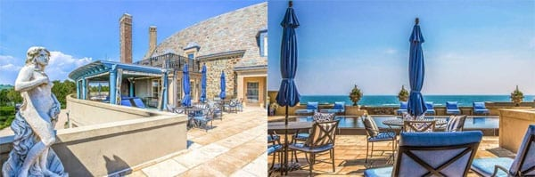 There are also numerous outdoor entertaining spaces