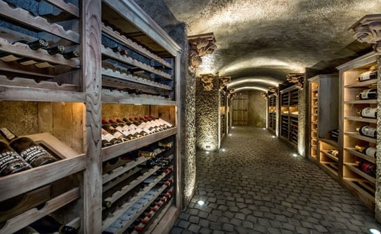 There is a wine cellar with space for 2,000 bottles