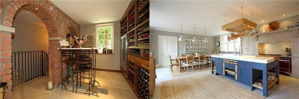 There is also a wine tasting room and a large kitchen