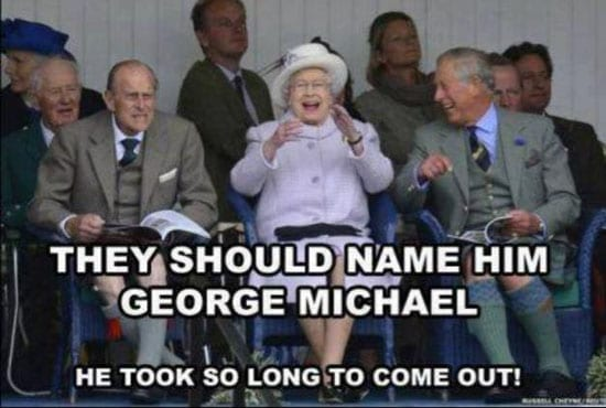 They should name him George Michael