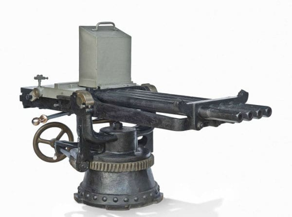 This Nordenfelt anti-torpedo machine gun sold for £86,500