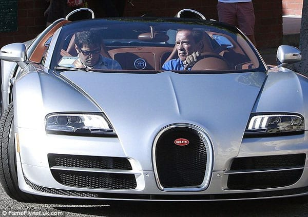 This week he was spotted driving a Bugatti Veyron