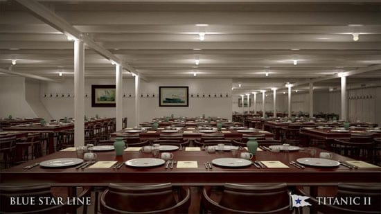 Amongst other authentic features will be a replica of the third class dining hall