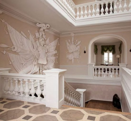 Tommy Kyle's passion for plasterwork is apparent throughout the building