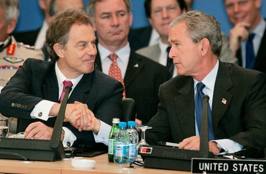 Tony Blair and George W. Bush may be remembered very differently in history