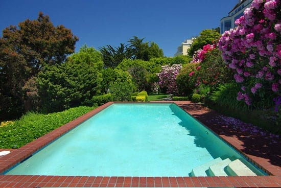 Unusually for San Francisco the property features an outdoor heated swimming pool