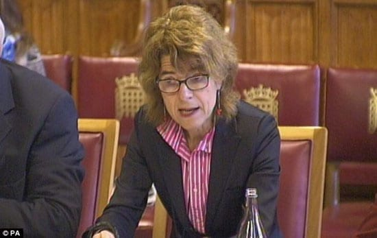 Vicky Pryce at the House of Lords on Tuesday 2nd July 2013