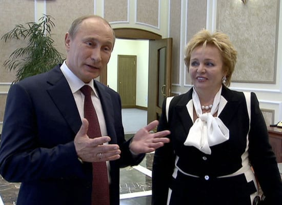 President Vladimir Putin and his current wife Lyudmila