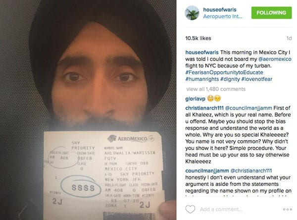 Stopping a socialite – Waris Ahluwalia barred from flying because of his turban