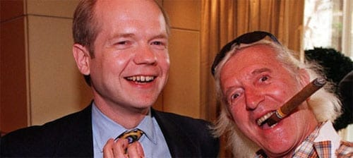 William Hague and Jimmy Savile