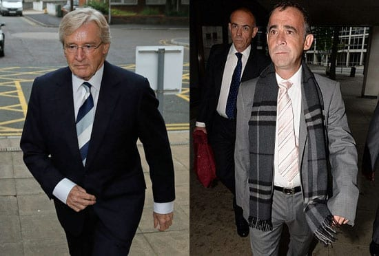 William Roache and Michael Le Vell arrive for their respective court appearances on Monday 2nd September 2013