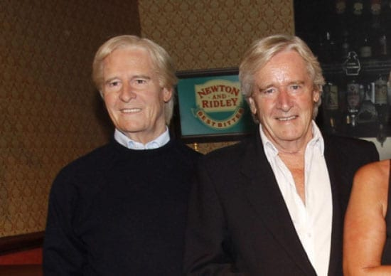 William Roache pictured with the waxwork of him that has now removed